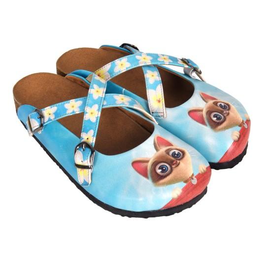 Grozy Cute Cat Woman Slippers