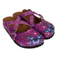 Grozy Purple Butterfly Kadın Terlik