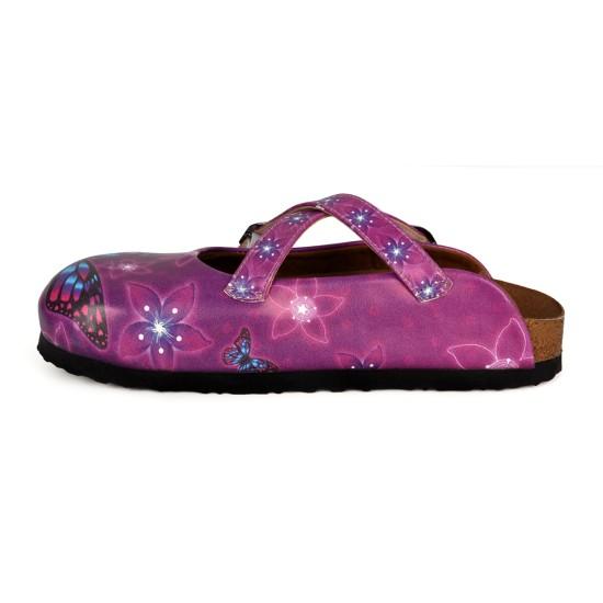 Grozy Purple Butterfly Women's Slippers