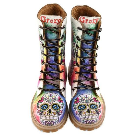 Grozy Sugar Skull Bayan / Çocuk Uzun Bot
