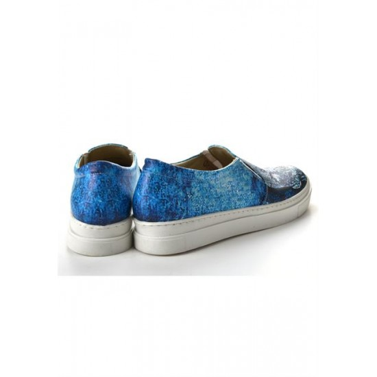 Grozy Blue Skull Vans Bayan Ayakkabı