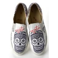 Grozy Exzotic Skull Vans Bayan Ayakkabı