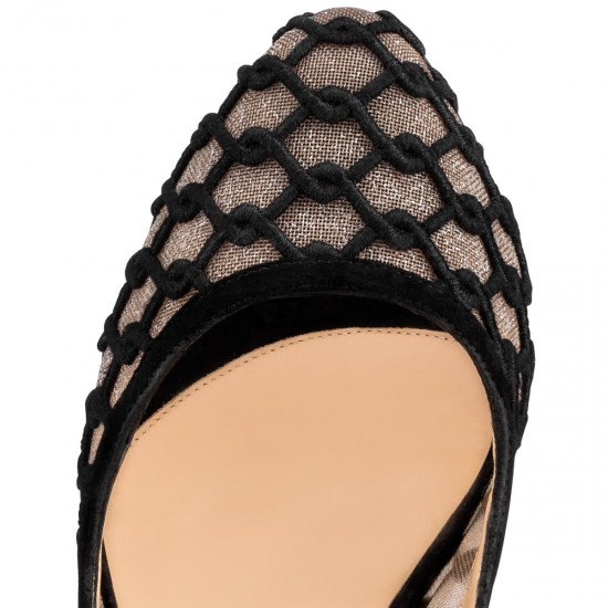 Christian Louboutin Net and Knitted Shoes
