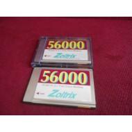 PCMCIA 2.1 FAX 7 DATA MODEM ZOLTRIX 56000 FAX MODEM CARD
