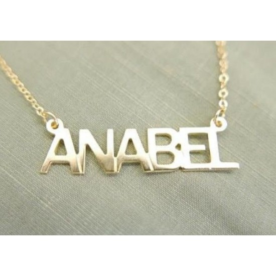 UpperCase Name Necklace
