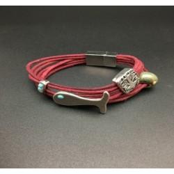 Burgundy Heron Bracelet
