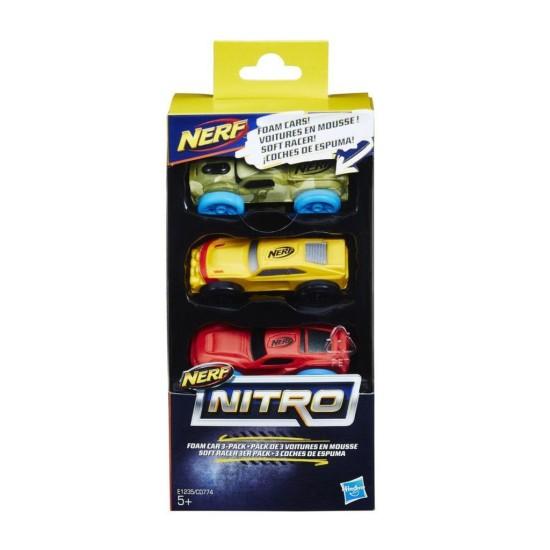 Nerf Nitro Car 3 Pack C0777