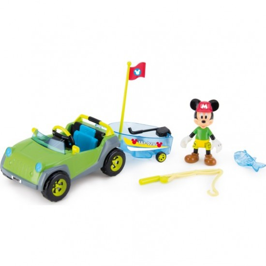 Mickey Mouse Disney Mickey Jeep And Fishing Boat