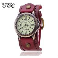 CCQ Vintage Leather Ladies Watch