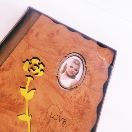 Authentic Picture Photo Album with Wooden Lid