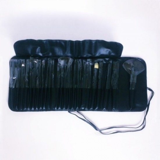 24-Pack Makeup Brush Set with Estella Bag