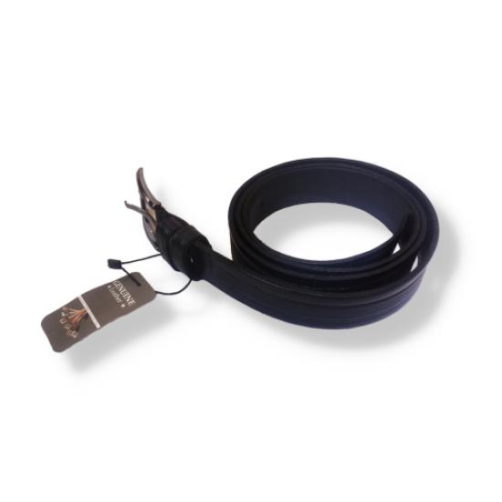 Genuine Leather Men's Leather Belt Black
