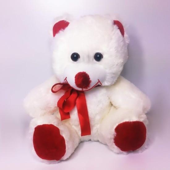 Cute White Plush Teddy Bear Oversized 35 cm