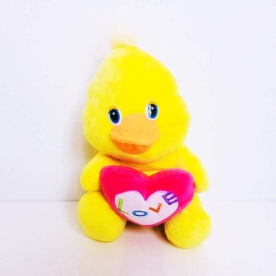 Cute Heart Plush Chick Oversized 30 cm