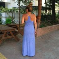 İnce askılı eskitme elbise