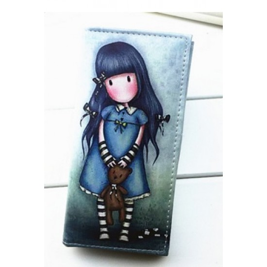 Cute girl pictured wallet
