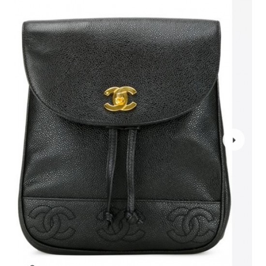 Backpack with Chanel Relief Logo