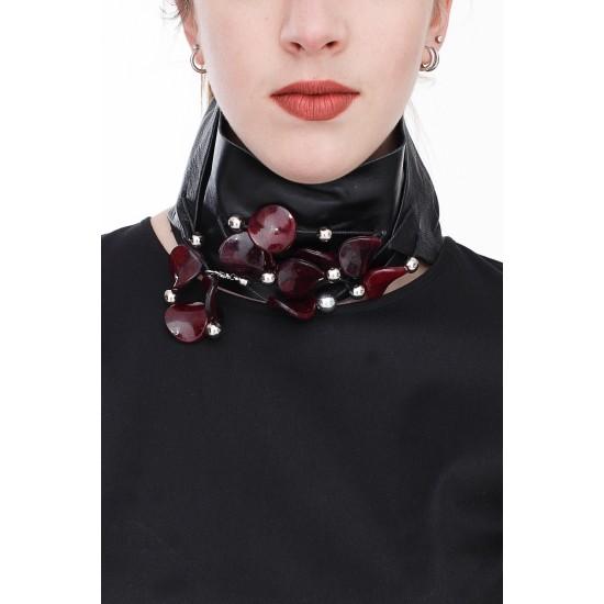 Leather Design Necklace