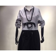 Black RingEd Design Necklace