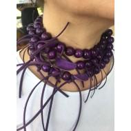 Purple Design Necklace