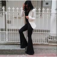 Horoscope Textile Black Spanish Pants