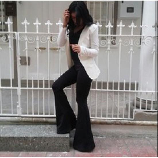 Burç Textile Siyah İspanyol Paça Pantolon