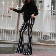 Zodiac Textile Striped Spanish Leg Pants