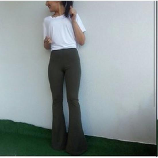 Burç Textile Gri İspanyol Paça Pantolon