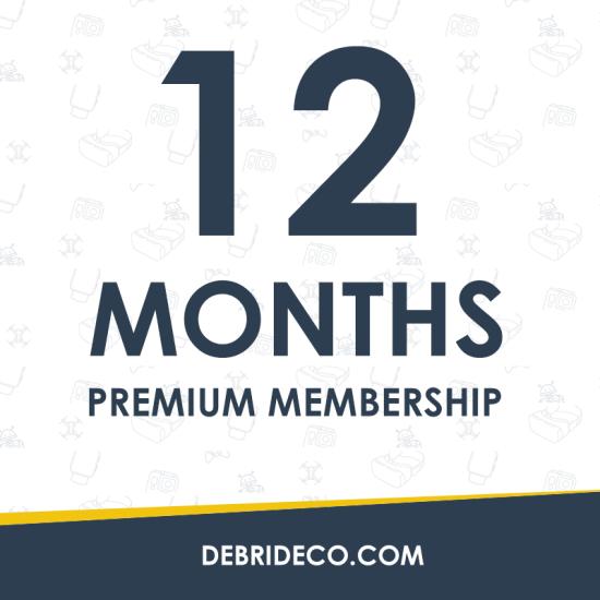 Debrideco.com 12-Month Premium Day