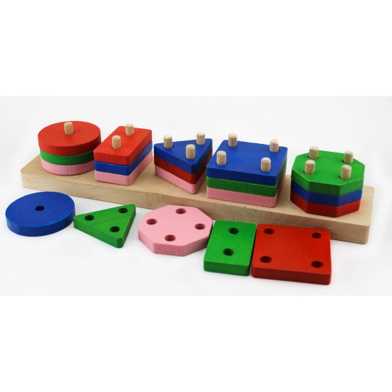 Find Plug Wooden Geometric Shapes