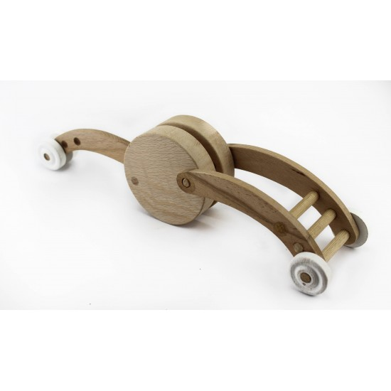 Unpainted Wooden Snail Toy