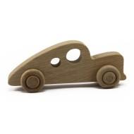 Unpainted Wooden Classic Race Car