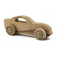 Unpainted Wooden Race Car