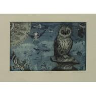Owl Engraving